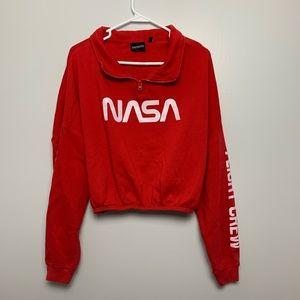 NASA Red Quarter-Zip Sweatshirt